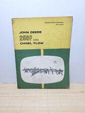 John Deere 250f Series Chisel Plow Owners Operators Manual Om N97714