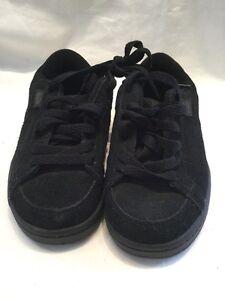 Etnies Kids Kingpin Black Grey Suede Childrens Skate Shoes UK Size 12 BNWOB