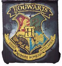 "Harry Potter Distressed Hogwarts Crest 81"" x 86"" Full/Queen Comforter NEW"