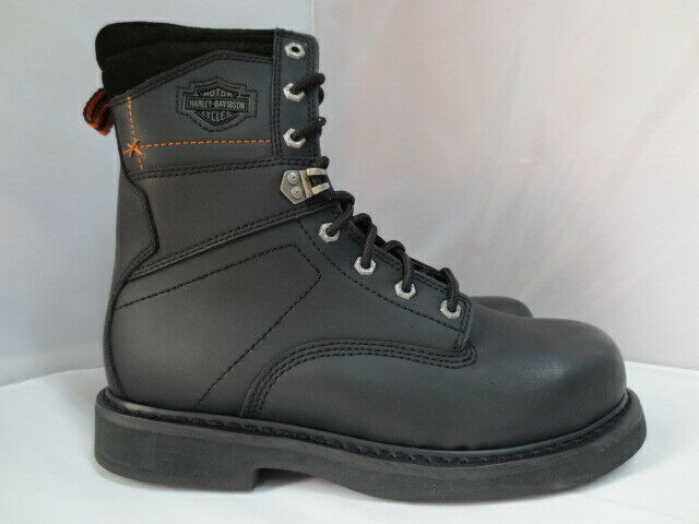 Men's Harley Davidson Black Leather Steel Toe Work Boot Size 10.5  95327