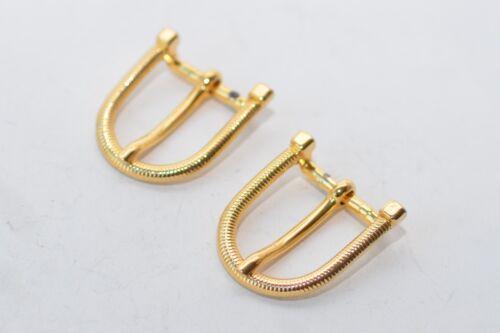 ca Gold 19 mm Breite 2x solide Gürtelschnalle Schließe Schnalle aus den 80ern