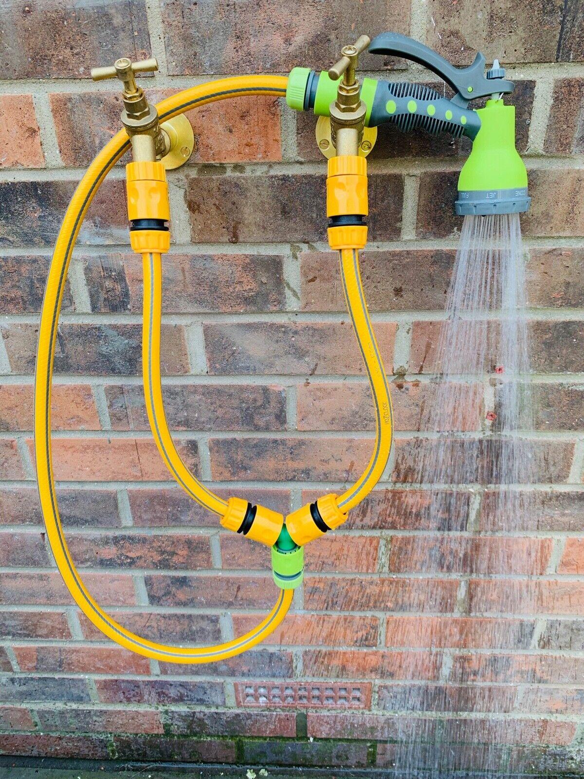Outdoor Tap Hose Temperature Mixer: Muddy dog wash shower car bike pool
