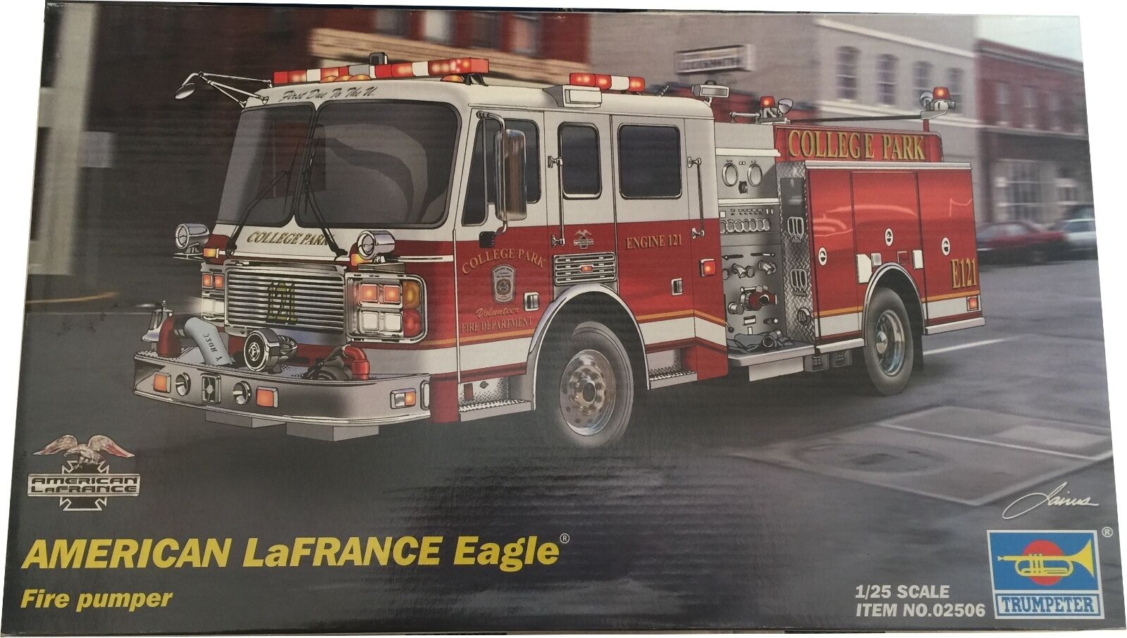 Trumpeter American LaFrance Eagle Fire Pumper Model Kit Ref 02506 Escala 1 25; N