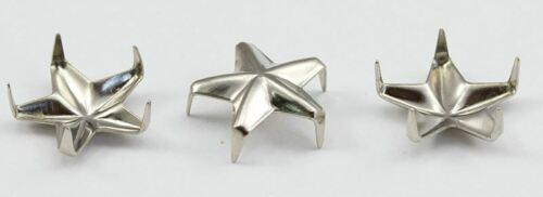 100 PCS Size 30 6MM Silver Star Nailhead 5 Prongs Non Rusting