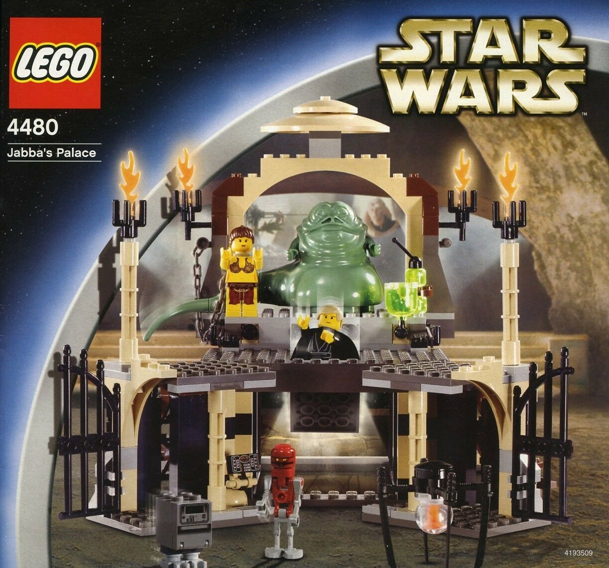 LEGO 4480 - STAR WARS - Jabba's Palace - 2003 Complete w/ Box