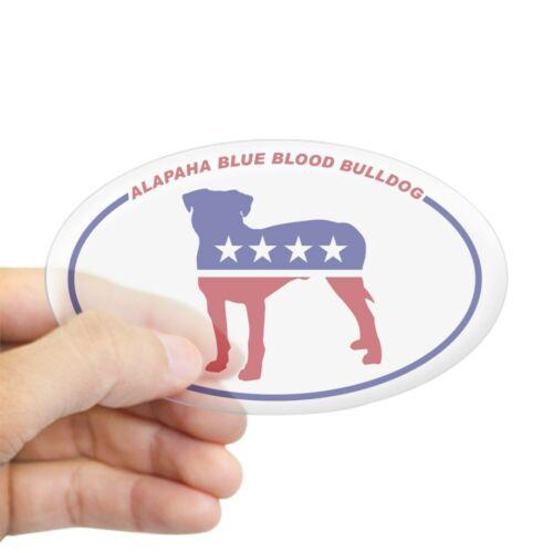 464162792 Oval CafePress Alapaha Blue Blood Bulldog Sticker