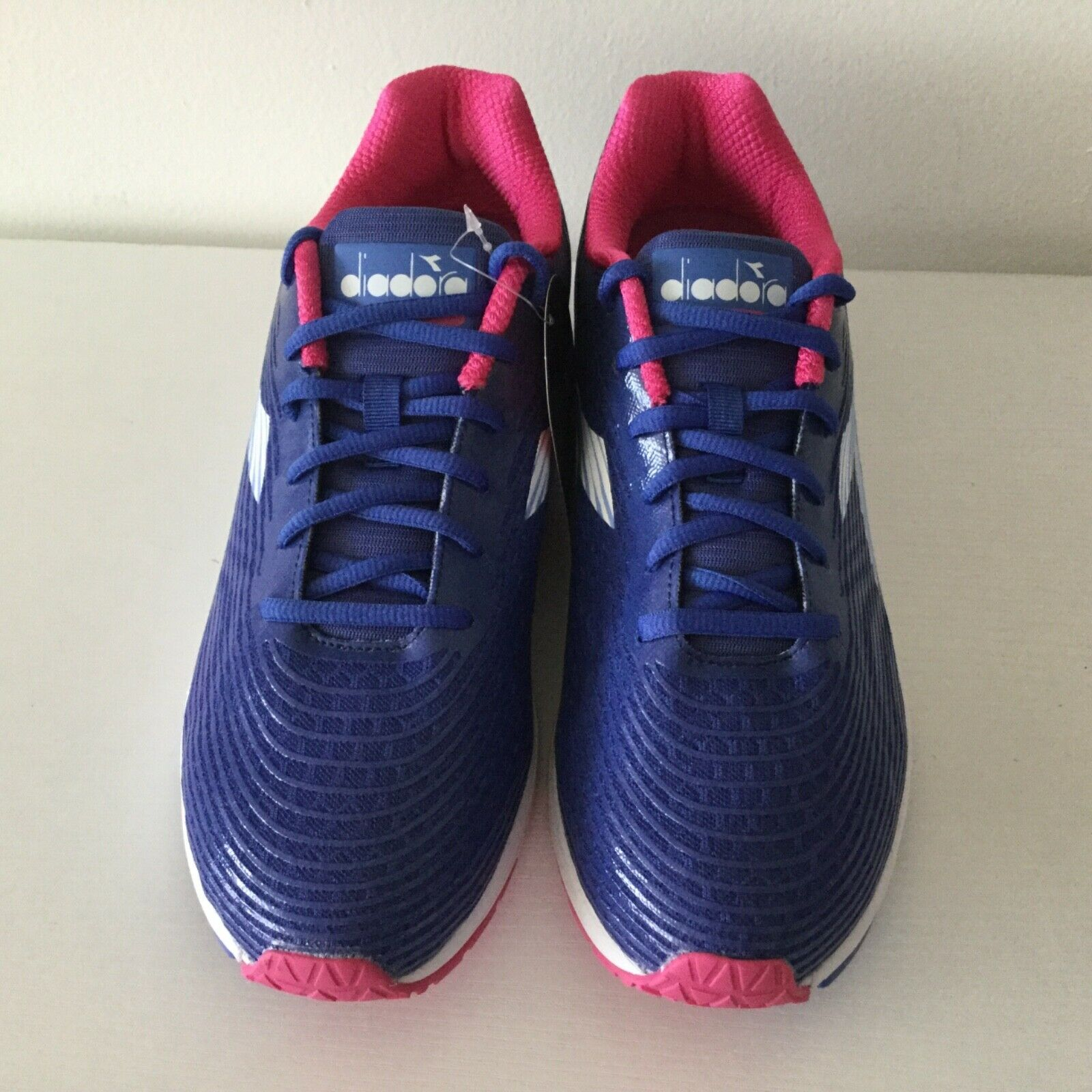 NEW Diadora Action +3 Sneaker Running Athletic shoes bluee Pink 10 W - 8.5 M