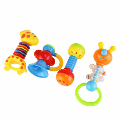 9pcs Baby/'s First Rattle Teether Newborn Infant Shaking Bell Rattles Teether Toy