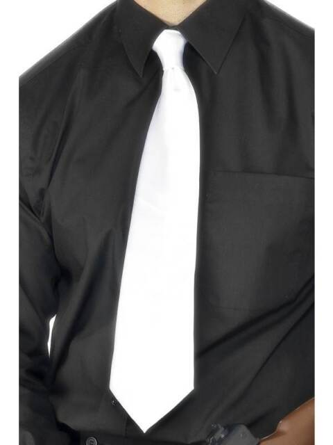 Deluxe White Gangster Tie, One Size, 1920's Razzle Fancy Dress/Cosplay #CA