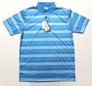 Men-039-s-Grand-Slam-On-Course-Striped-Golf-Polo-Shirt-GSKS80P0-Atomic-Blue