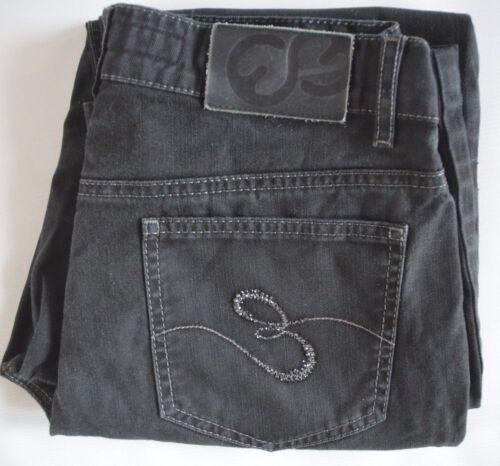 uk linda diritti 10 6 us W28 decorati Escada elasticizzati neri Jeans l28 xq68xtP0w