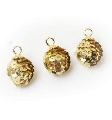 Jewelry Jesse James Embellishments Dress It Up  ~ Holiday Sequin Balls Gold
