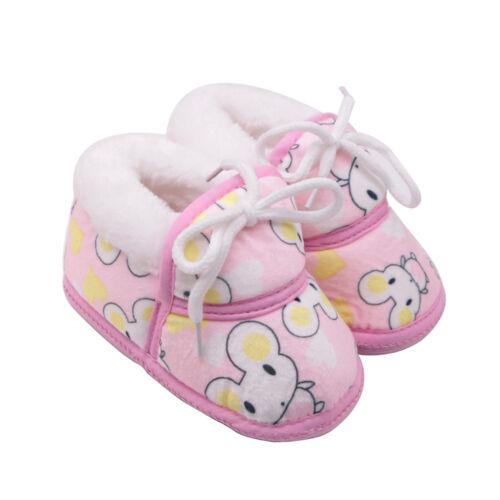 Cute Newborn Baby Girls/&Boys Winter Cartoon Warm Shoes Fluff Footwear Crib Shoes