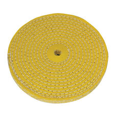 Sisal Spiral Stitched Polishing Buffing Wheel For Use With Bench Grinders