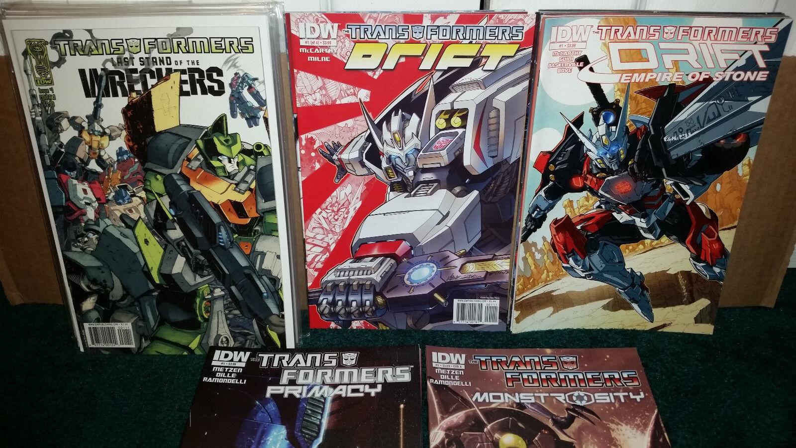 Idw Transformers los saboteadores   1-5 un b Drift   1-4 primacía   1-4 un b monstruosidad   2-4