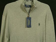 Polo Ralph Lauren XL Zippered Pullover Men's Extra Large 100% Pima Cotton NWT