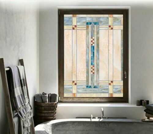 Abstract Window Film Print Sticker Cling Stained Glass Art UV Block Gift Decor