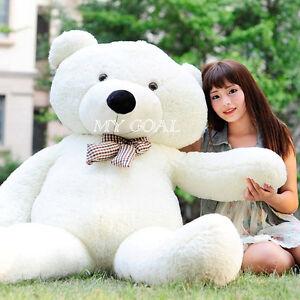31'' Large White Teddy Bear Giant Eddy Bear Big Soft Plush Toys Kids Soft Toys