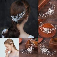 3PC Bride Bridal Hair Accessories Pearl Flower Hair Comb Headwear Jewelry Wed