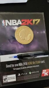 Details About New Ps4 Xbox One Nba 2k17 Kobe Bryant Gold Coin No Code