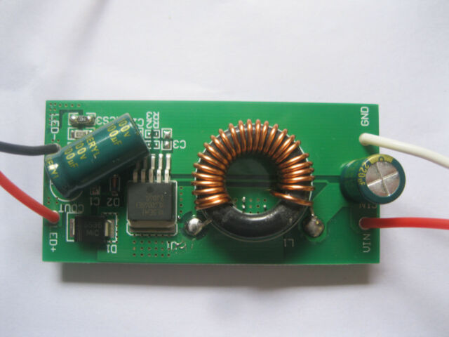 50W Constant Current LED Driver DC12V to DC30-38V 1500mA for 50W High Power LED