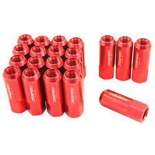 RED JDMSPEED EXTENDED FORGED ALUMINUM TUNER RACING 60MM LUG NUTS M14X1.5MM 20PC