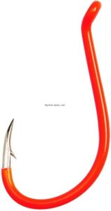 Size 4 Needle Point Eagle Claw L2PKUH-4 Lazer Sharp Painted Octopus Hook Long