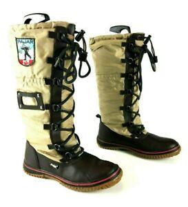 Schneestiefel Damen Winterstiefel Flache Sohle Warm Ankle Boots Wadenhohe Schuhe