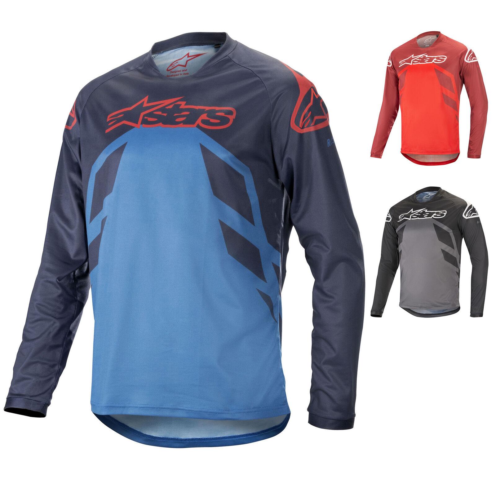 1762819 Alpinestars RACER V2 LS JERSEY Mens T-Shirt MTB Mountain Biking Trail
