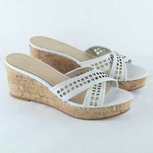 Kate Spade White Leather Cross Front