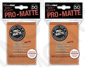 100-2pk-ULTRA-PRO-Pro-Matte-Deck-Protector-Card-Sleeves-Magic-Standard-Orange