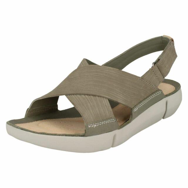 6373a544a939 Women s Clarks Tri Chloe Strap Sandals in Green UK 3   EU 35 1 2