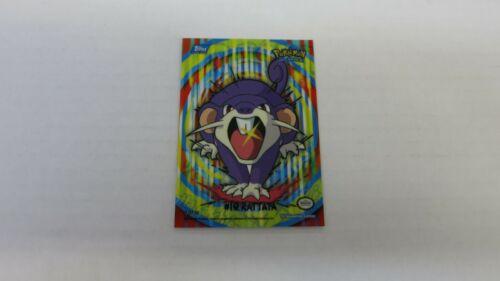 Topps Series 1 2000 #19 RATTATA Pikachu Puzzle 9 de 10 piezas de Pokemon Full Art Casi Nuevo