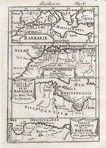 1685 Africa Barbury Coast Morocco Tunisia Libya Egypt 17th Century