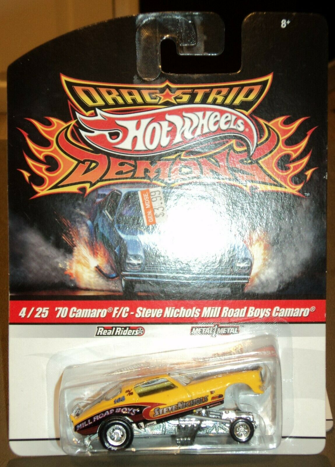 Hot Wheels Drag Strip Demons Chevy Camaro F C Steve Nichols Mill Road Boys