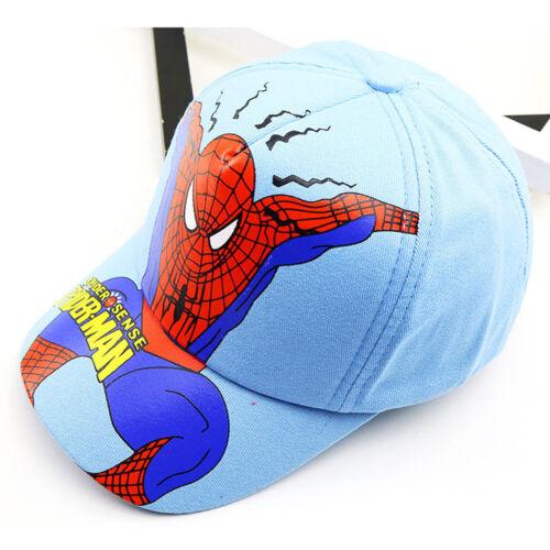 Kids Embroidery Spiderman Cartoon Baseball Caps Boys Snapback Cap Children Hats