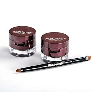 Make-Up-4-in-1-Brown-Black-Gel-Eyeliner-Brown-Black-Eyebrow-Powder-New