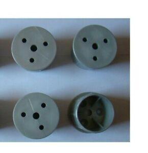 4-Stueck-Moebelfuss-Rund-Kunststoff-43mm-x-37mm-Farbe-Silber