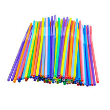 100Pcs Extra Long Flexible Plastic Drinking Straws Party Bar Drinking Supplies