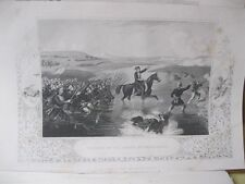 Vintage Print,PASSAGE OF INGOUR,Omas Pasha,British Land+Naval Battles