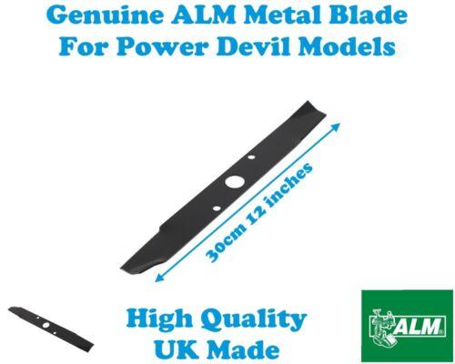 POWER DEVIL Garden Works 850W HBLMK1 GENUINE ALM LAWNMOWER METAL BLADE 30CM