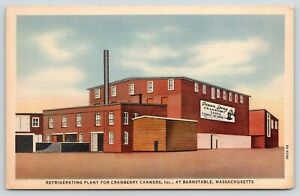 Barnstable-MA-Cranberry-Canners-Refrigerating-Plant-Ocean-Spray-1935-Linen