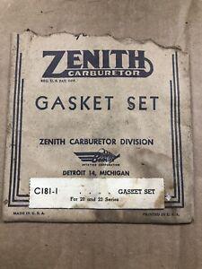 NOS-ZENITH-CARBURETOR-GASKET-KIT-C181-1-FOR-20-amp-23-SERIES-GOVERNOR-CHOKE-CARB