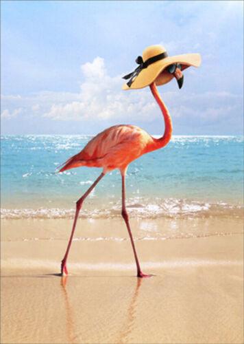 Avanti Fancy Flamingo On Beach Funny Humorous Mother/'s Day Card