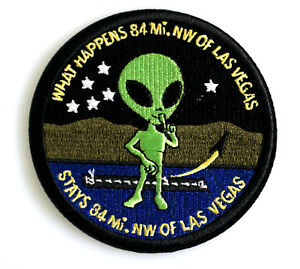 Area-51-Las-Vegas-Roswell-Patch-Uniform-Aufnaeher-zum-Aufbuegeln-neu
