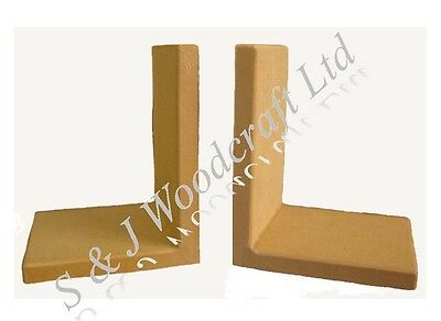 1 PAIR BOOKEND FRAMES ASSEMBLED MDF BLANK READY TO DECORATE BY S & J WOODCRAFT