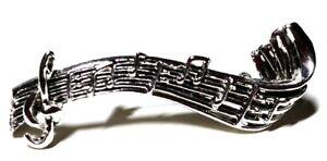 Musical Bar Vintage Silver Tone Pin