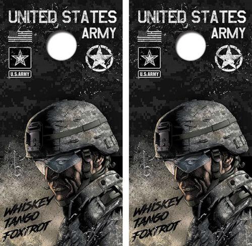 United States Army Cornhole Board Wraps FREE LAMINATION #3295