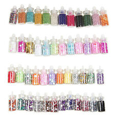 Nail Art 48 Colors Glitter Decoration Tips For UV Acrylic System Tips Kit Set