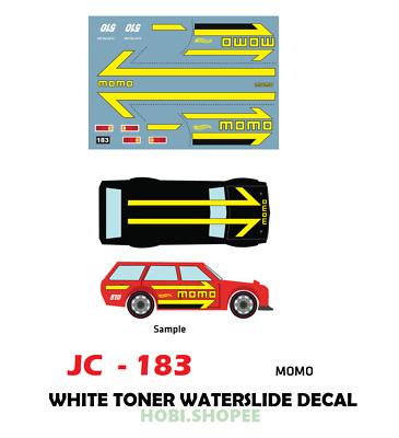 Jc 9183 White Toner Waterslide Decals Momo For Custom 1 64 Hot Wheels Ebay